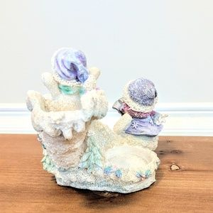 unbranded Accents - Let it snow shimmery candle holder fun in the snow